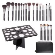 Docolor 29Pcs Professional Makeup Brushes Set with Brush Holder Tree Cosmetic Storage Organiser Tool