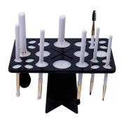 DUcare 8Pcs Travel Makeup Brush Set with Black Brush Air Drying Tree Holder