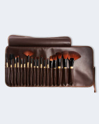 Lionesse 18 Piece Professional Makeup Brush Set – Blending Blush, Foundation, Face Powder, Liquid Cream, Eyeliner, Mascara Makeup Brushes – Wood Handle, Travel Pouch