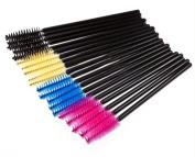 100 PCS Eyelash Eye Lash Makeup Brush Mini Mascara Wands Applicator Disposable Extension Tool