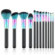 Creazy 12PCS Cosmetic Makeup Brush Brushes Set Foundation Powder Eyeshadow Brush