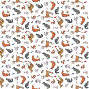 Woodland Winter Animals from Northcott 100% Cotton Quilt Fabric 21160 10