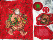 Woodland Santa Cotton Fabric Door Panel (Great for Quilting, Sewing, Craft Projects, a Child's Quilt & More) 110cm x 90cm Wide