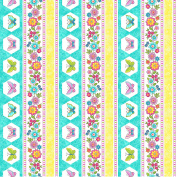 Blossom by Deborah Edwards from Northcott 100% Cotton Quilt Fabric 21099 63 Lollipop