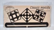 Classic Motifs 30cm Quilt Blocks Split Bottom Craft Holder