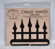 Classic Motifs 15cm Iron Fence Split Bottom Craft Holder