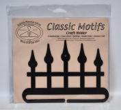 Classic Motifs 15cm Iron Fence Split Bottom Craft Holder