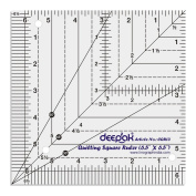 Square Shape Quilt Designing and Crafting Quilting Ruler Template 17cm x 17cm