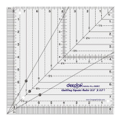 Square Shape Quilt Designing and Crafting Quilting Ruler Template 22cm x 22cm