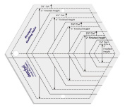 Hexagon Shape Quilt Designing and Crafting Quilting Ruler Template 14cm by LINOGRAPH