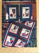 Liberty Homestead Patchwork Christmas Stocking quilt pattern 60cm x 90cm