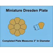 Paper Pieces Miniature Dresden Plate Paper Templates for 10cm Block Set of 3