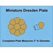 Paper Pieces Miniature Dresden Plate Paper Templates for 10cm Block Set of 3