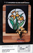 Daffodils Stained Glass Quilt Pattern P-122