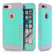 iPhone 7 Plus Case, GreenElec High Impact Shockproof Hybrid Heavy Duty Dual Layer Hard Plastic+Soft Silicon Rubber Armour Defender Case Cover for iPhone 7 Plus
