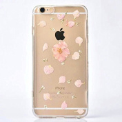 Eleoption® Romantic Flowers Printed Soft TPU Skin Cover Case For iphone 6 6s 12cm Inch