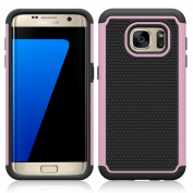 Galaxy S7 Edge Case , MCUK [Drop Protection] [Shock Absorption] [Heavy Duty Protection] Hybrid Hard Football lines Premium Dual Layer Case Cover for Samsung Galaxy S7 Edge