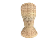 Mannequin Short Wicker Rattan Head Wig Stand Handcraft Antique Display Handmade