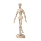 BQLZR 14cm Artists Wooden Manikin Mannequin Moveable Adjustable Limbs Human