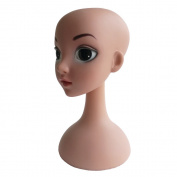 Kukin Beauty girls head model for wigs display, Hats display head mannequin