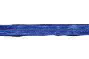 ModaTrims Wholesale 1.6cm Fold Over Elastic Stretch FOE for Headbands and Hair Ties, Royal Blue 200 Yard Roll