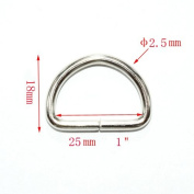 Metal D Ring 2.5cm Non Welded Nickel Plated Pack Of 25