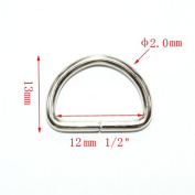 Metal D Ring 1.3cm Non Welded Nickel Plated Pack Of 100