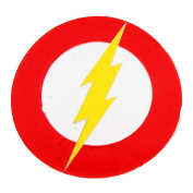 New Flash Dc Comics Symbol Red Edge Lightning Bolt Belt Buckle Men Women Fashion