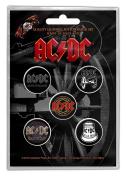 AC/DC 13cm x 2.5cm Button badge pack