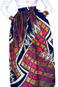 Chase Secret Women's African Print Casual A-Line Maxi Skirt Flared Skirt
