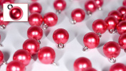 Set of Nylon/Plastic Shirt/Blouse Round Spherical Buttons (Pearl Red Colour) Pack of 12 Pieces