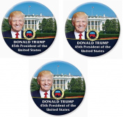 Just Released! Donald Trump Elected President - Set of 3 Large Buttons