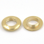 6 Sets 28mm Brass Grommet Eyelets For Canvas Clothes Leather Purse Backing Buckle