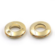 """10 Pcs Alloy Grommets Eyelets 14mm 0.55"""" Canvas Leather Self Backing Screw Purse Buckle Gold"""