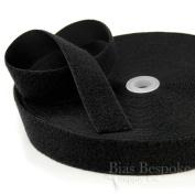 27 Yard Rolls of Black Sew-on Hook and Loop Fastening Tape, 3.8cm Wide