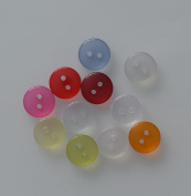 Lyracces Wholesale Lots 220pcs Crystal transparent Sewing Fasteners Flatback Resin Buttons Mixed 11kinds of colour 11.5mm 2/5 Inches