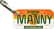 Personalised Florida 2014 Zipper Pull State Licence Plate Replica