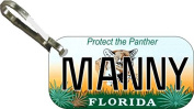 Personalised Florida Panther Zipper Pull State Licence Plate Replica