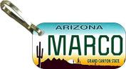 Personalised Arizona Cactus Zipper Pull State Licence Plate Replica