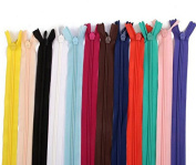 60 Pcs 7 Inch 18cm Nylon Closed Ended Zip Zippers for Tailor Sewer Craft Sewing Clothes