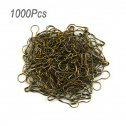 lieomo 1000pcs 2.2cm Tone Gourd Bulb Pear-shaped Safety Pins For Hanging Tags-Bronze