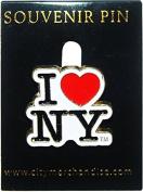 City Merchandise Cutout Lapel Pin, I Love New York