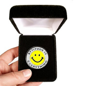 Velvet presentation Box - Attitude Is Everything Lapel Pin