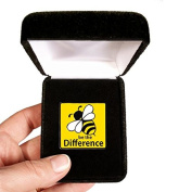 Velvet presentation Box - Be The Difference Lapel Pin
