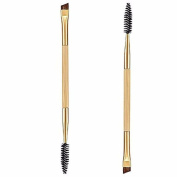 MakeUp Brush Set,Siniao®1PCS Makeup Bamboo Handle Double Eyebrow Brush + Eyebrow Comb