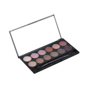 QiBest 12 Colours Nudes Eyeshadow Palette with Brush