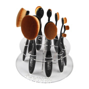Kwok 10 Hole Oval Makeup Brush Holder Drying Rack Organiser Cosmetic Shelf Tool