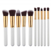 Kwok 10pcs Powder Foundation Eyeshadow Tool Makeup Brushes Set