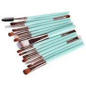 Kwok 15pcs Make Up Brush Set Pro Makeup Brush Set tools Make-up Toiletry Kit Wool