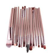 Kwok 15 pcs/Sets Pro Makeup Brushes Tool Eye Shadow Foundation Eyebrow Lip Brush